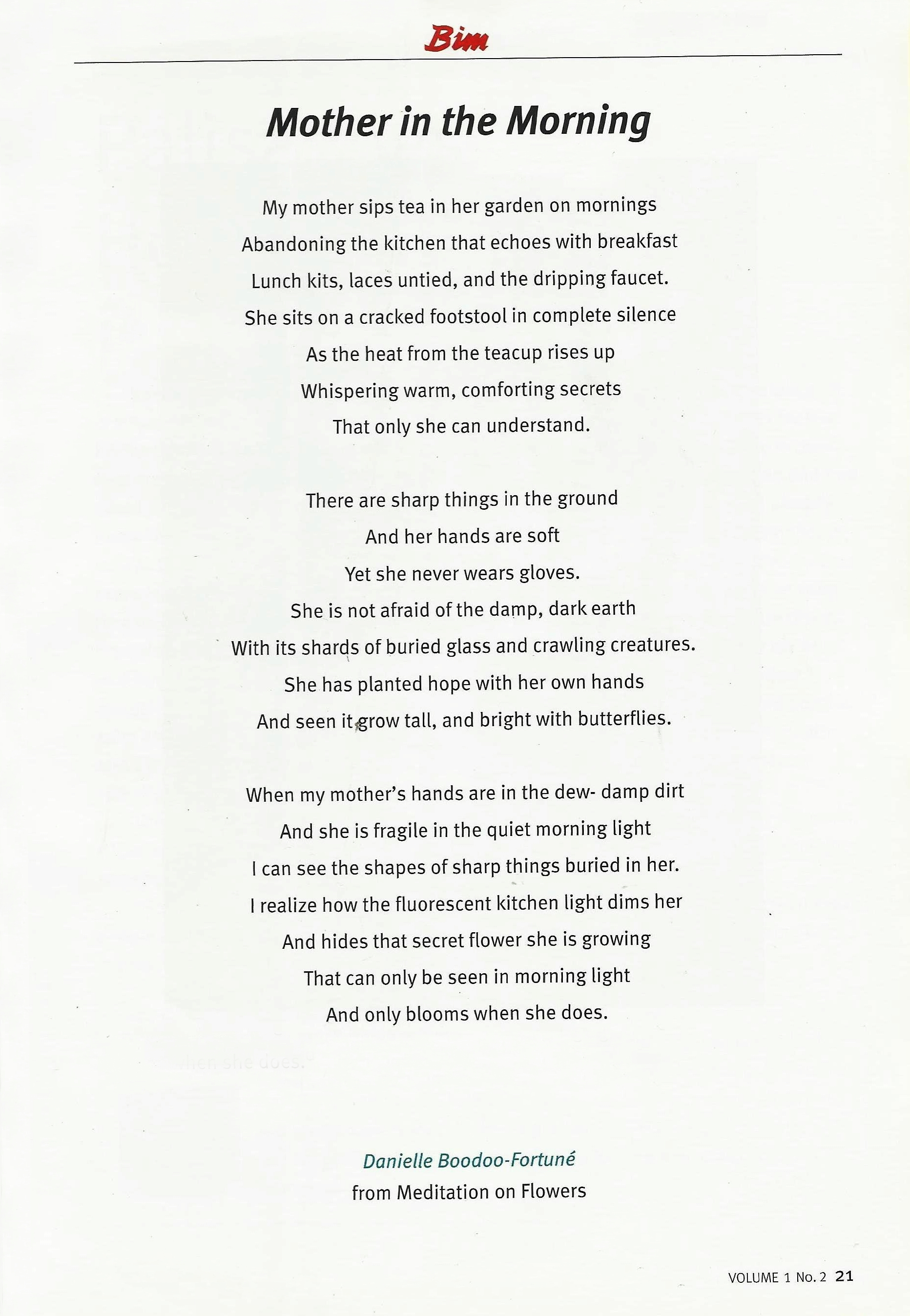 Mother to son poems