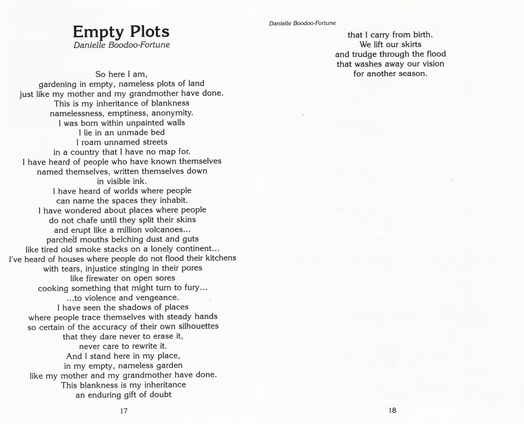 The Caribbean Writer Vol.23_Empty Plots