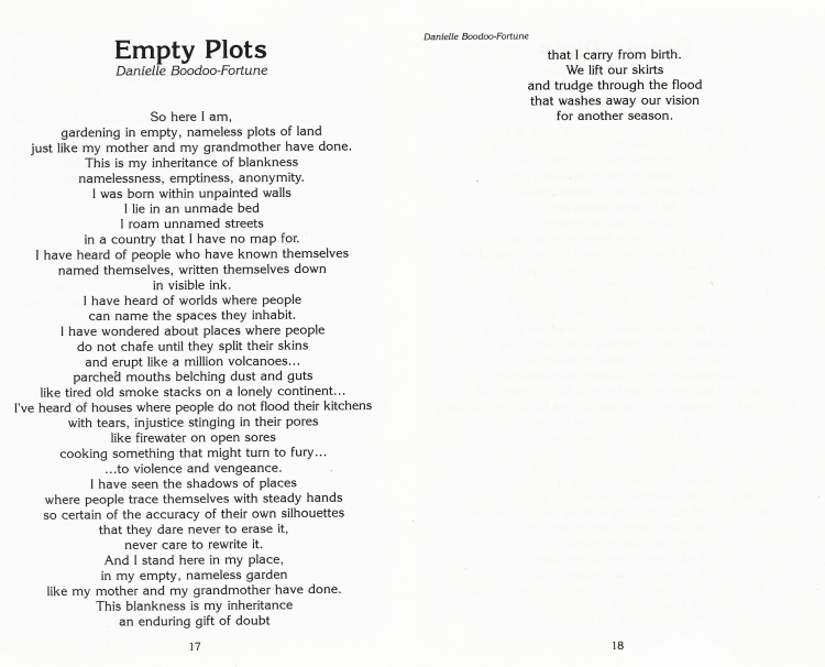The Caribbean Writer Vol.23_Empty Plots